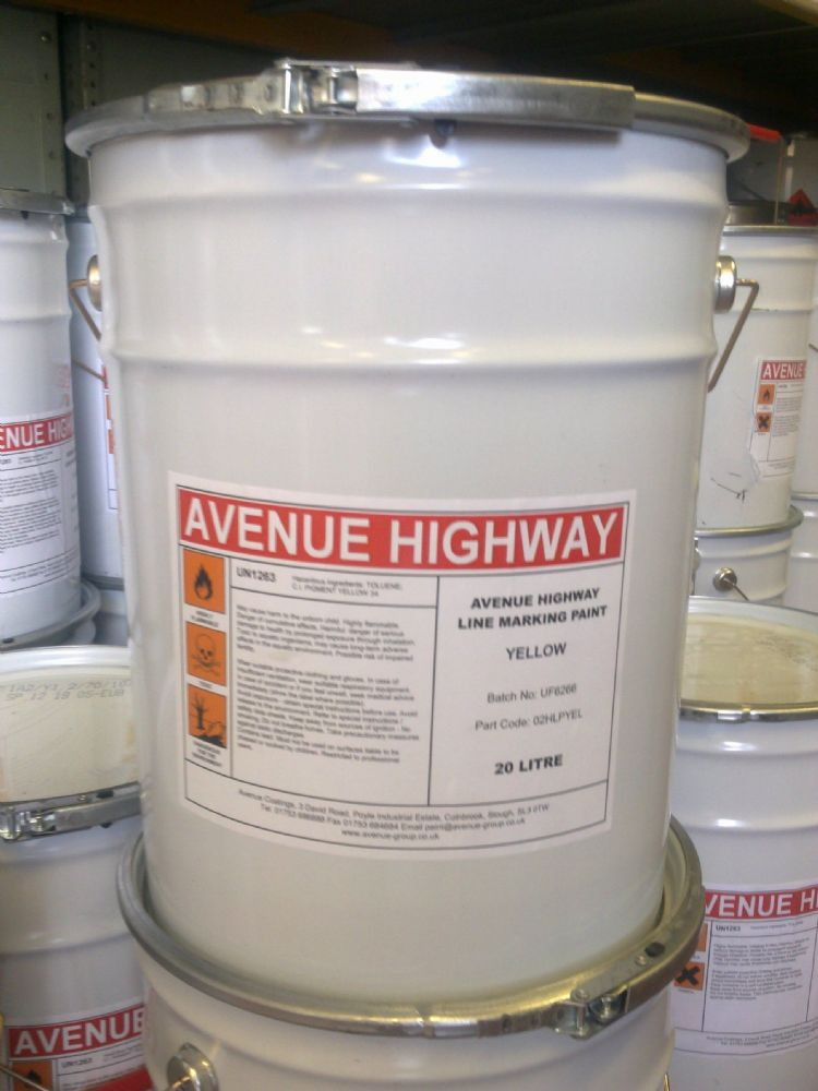 Avenue Highway CR Line Marking Paint Custom Mixed Colours
